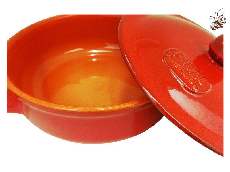 Casserole piral en terre cuite id ale pour la bagna cauda Porte couvercle casserole