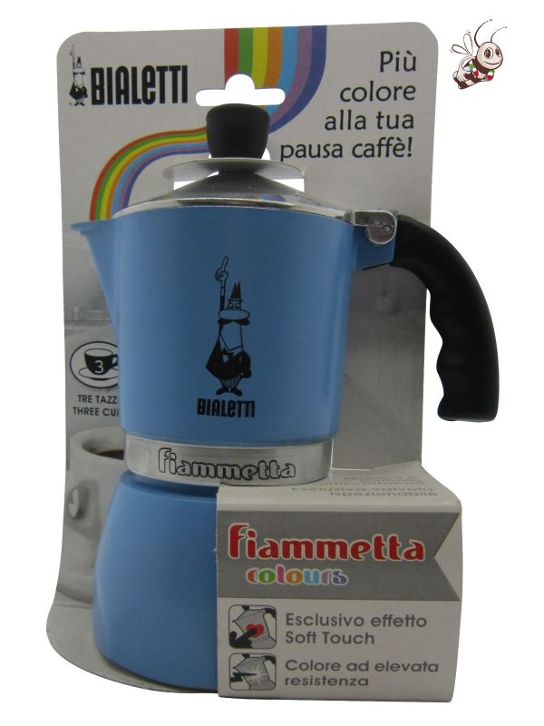 Cafeti re italienne bialetti gamme fiametta colors bleue cafeti re 3 tasses - Comment fonctionne cafetiere italienne ...
